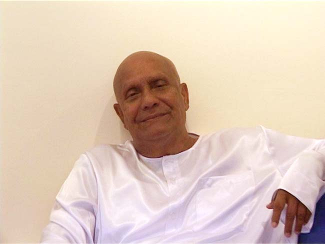 Sri Chinmoy is enjoying his visit